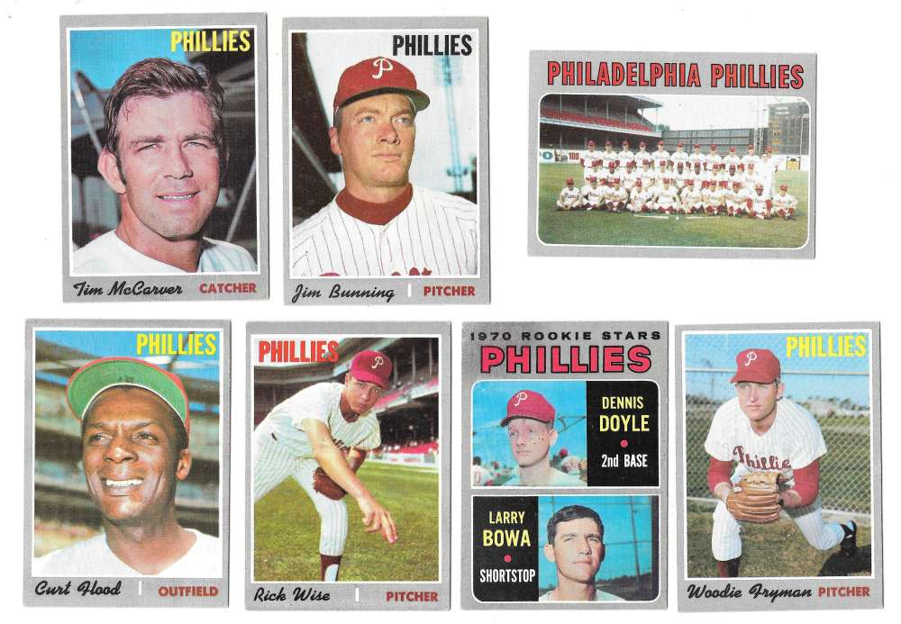 1970 Topps - VG+EX Condition A PHILADELPHIA PHILLIES Team Set