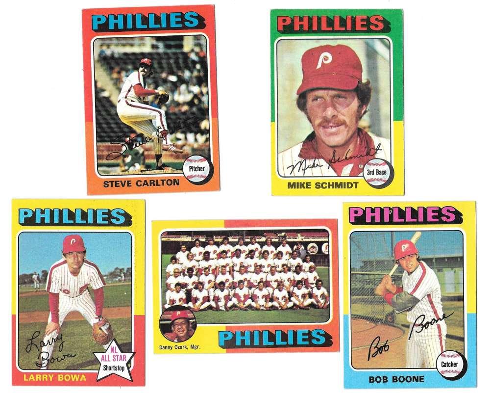 1975 Topps EX+ PHILADELPHIA PHILLIES Team Set