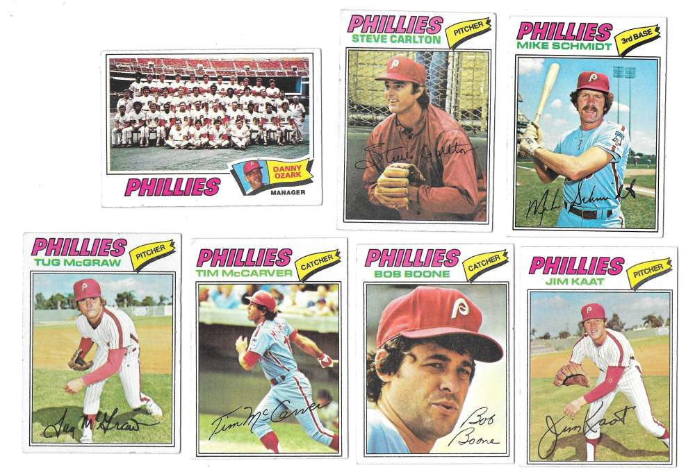 1977 TOPPS VG+EX Checklist Marked - PHILADELPHIA PHILLIES Team Set