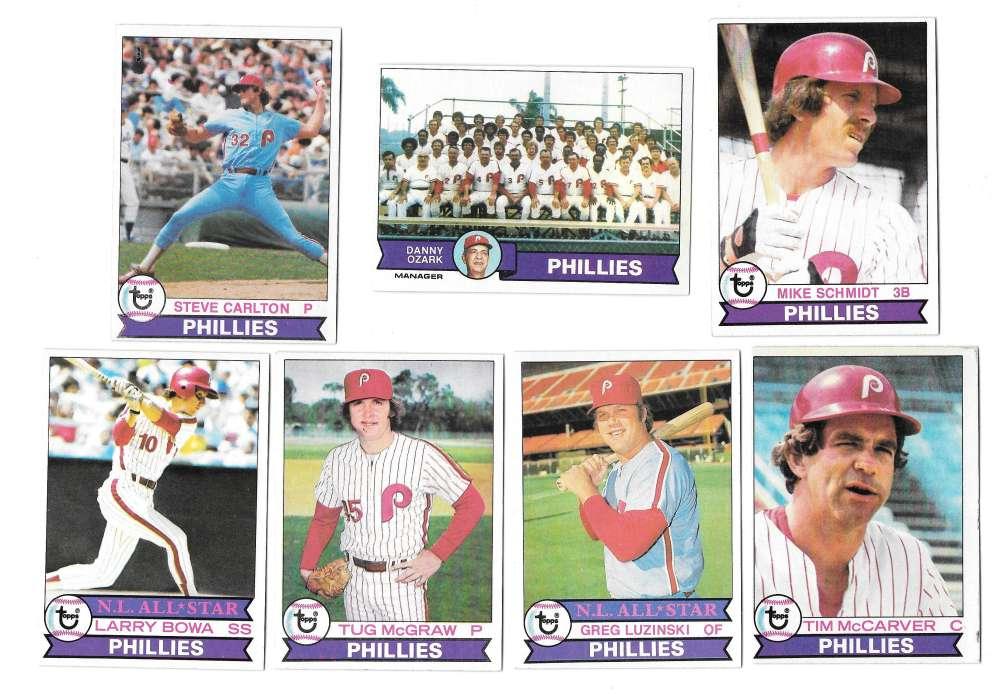 1979 Topps (EX+ condition) AA - PHILADELPHIA PHILLIES Team Set
