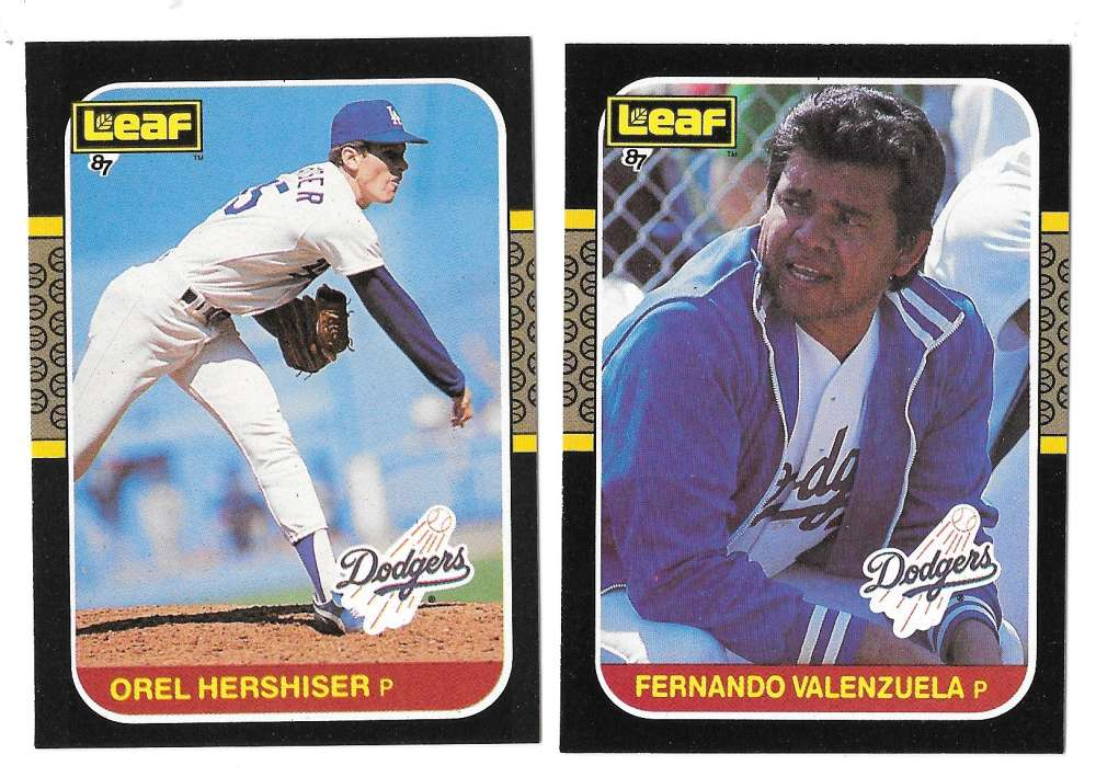 1987 Leaf - LOS ANGELES DODGERS Team Set