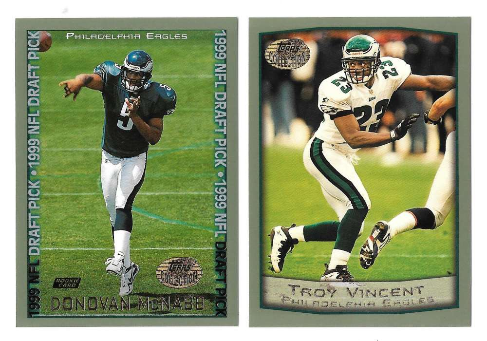 1999 Topps Collections Football Team Set - PHILADELPHIA EAGLES