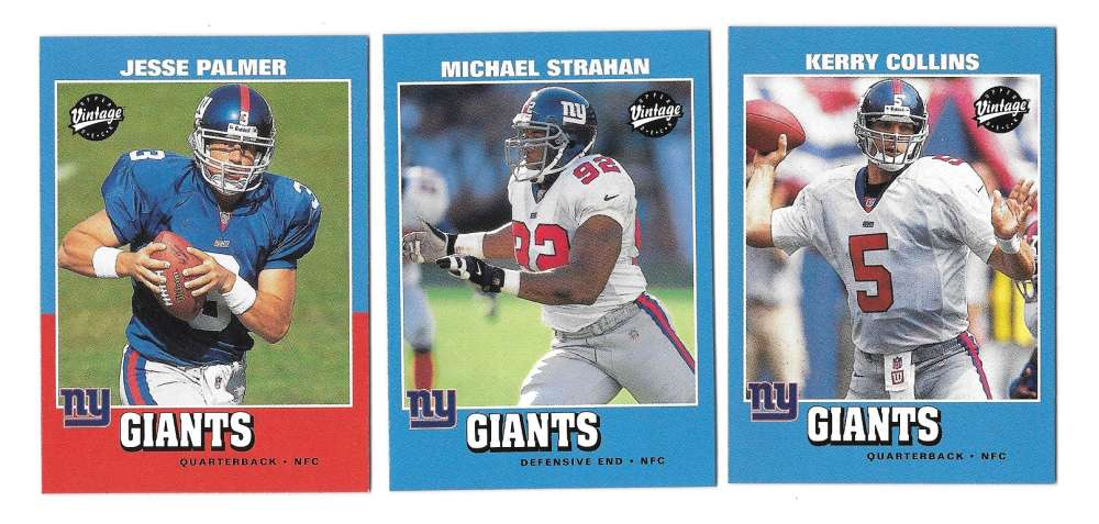 2001 Upper Deck Vintage Football Team Set - NEW YORK GIANTS