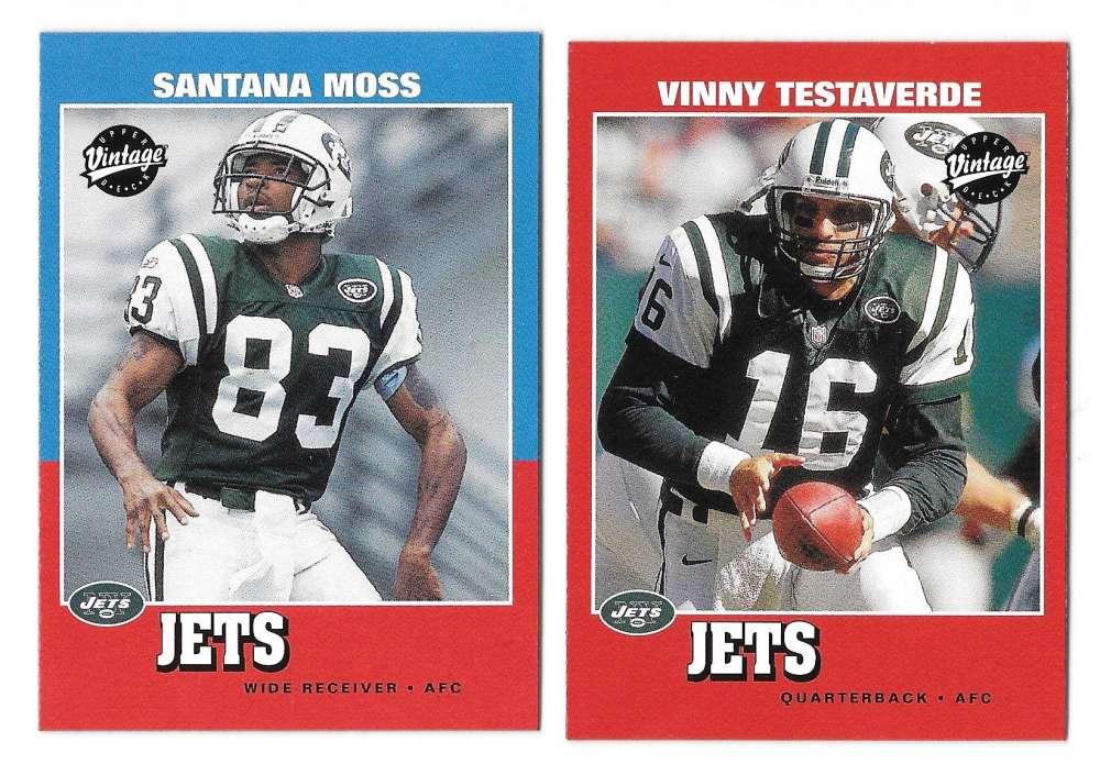 2001 Upper Deck Vintage Football Team Set - NEW YORK JETS