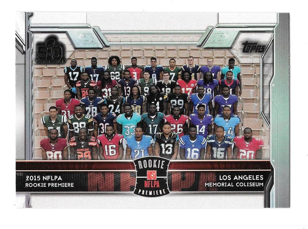 2015 Topps Super Bowl 50th Anniversary #400 NFLPA Rookie Premier