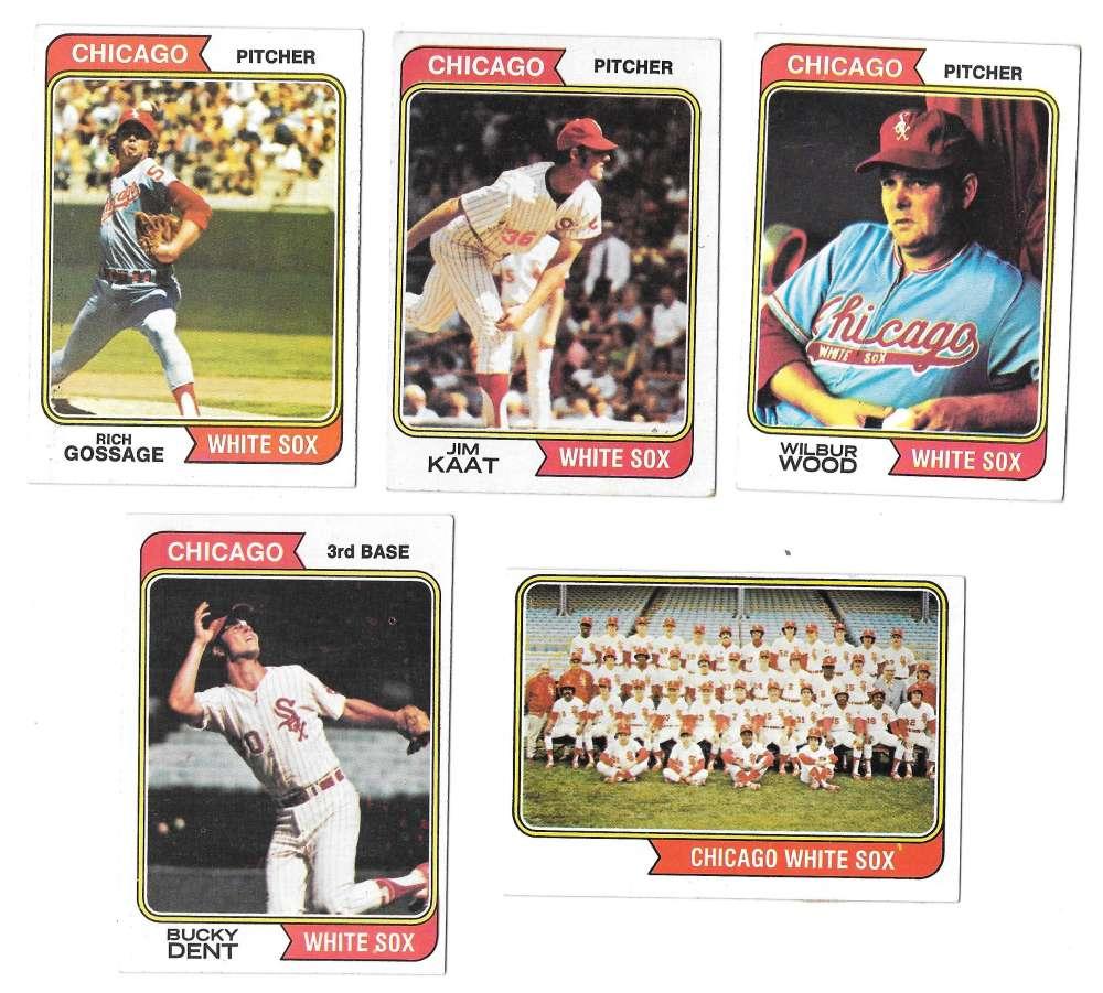 1974 Topps - CHICAGO WHITE SOX Team Set EX Condition