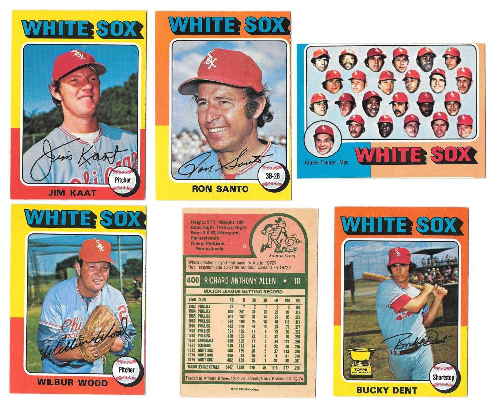 1975 O-Pee-Chee (OPC) - CHICAGO WHITE SOX Team Set EX+ Condition