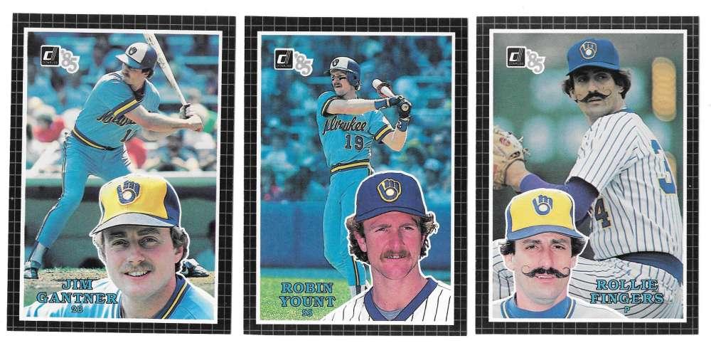 1985 Donruss Action All-Stars (3x5) - MILWAUKEE BREWERS Team Set