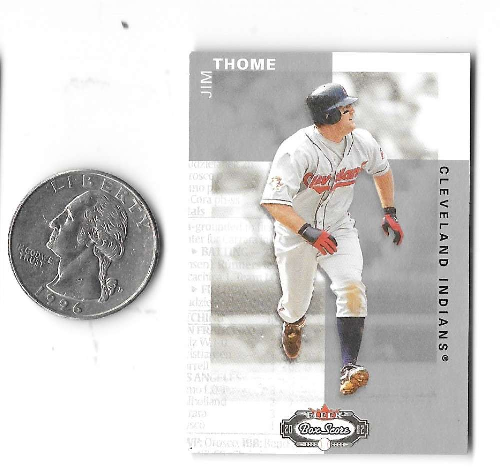 2002 Fleer Box Score Classic Miniatures - CLEVELAND INDIANS Team Set