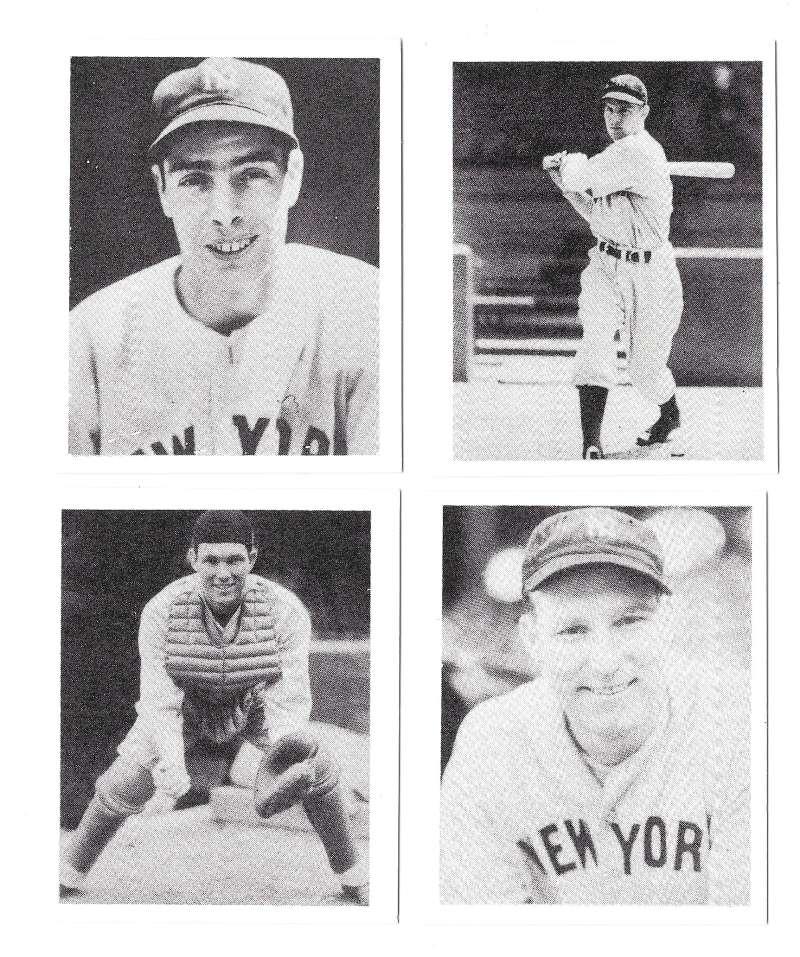 1939 Play Ball Reprints - NEW YORK YANKEES Team Set