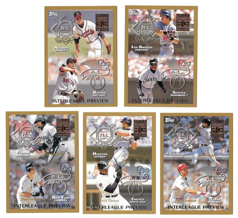 1998 Topps Minted in Cooperstown - Interleague Preview (5 card subset)