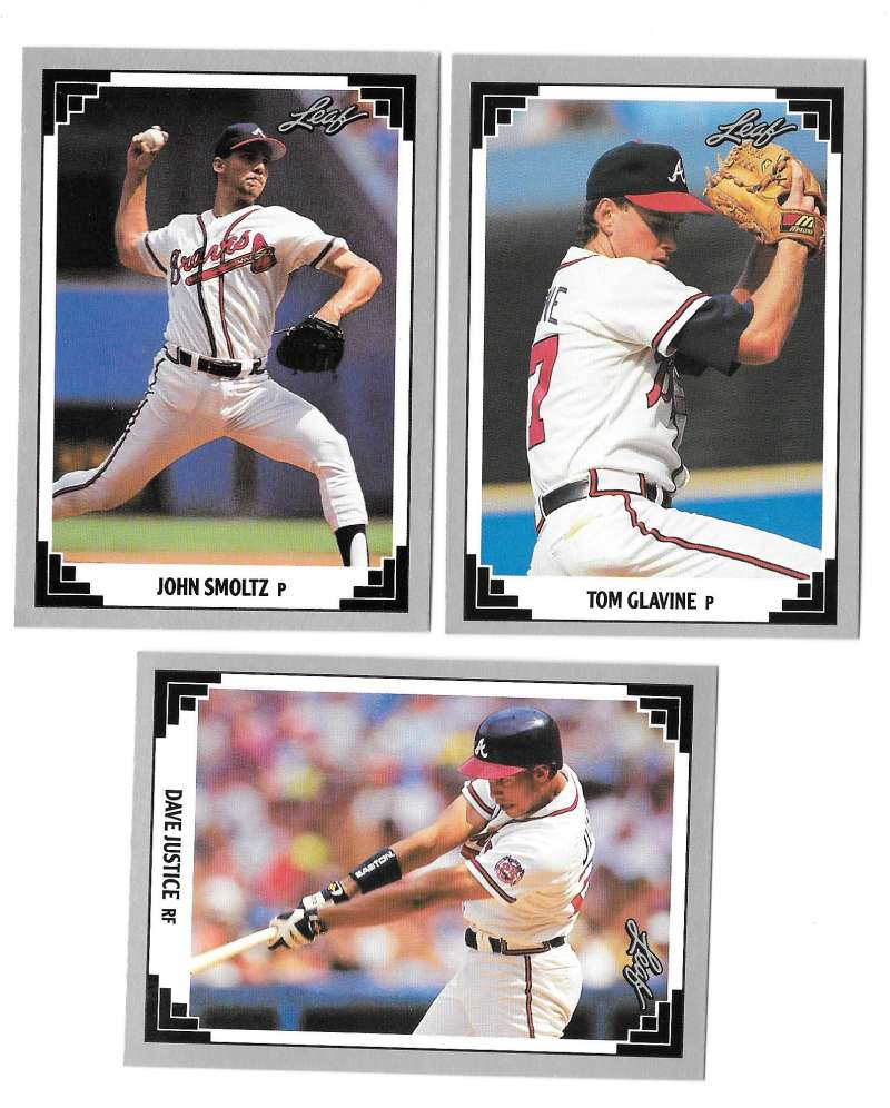 1991 LEAF - ATLANTA BRAVES Team Set