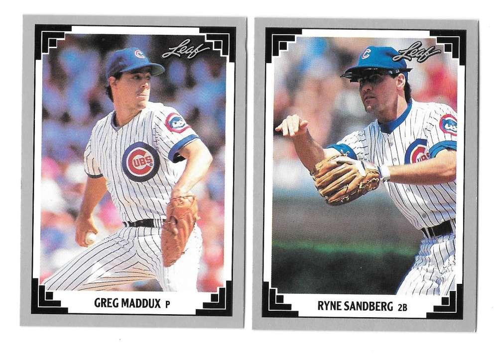1991 LEAF - CHICAGO CUBS Team Set