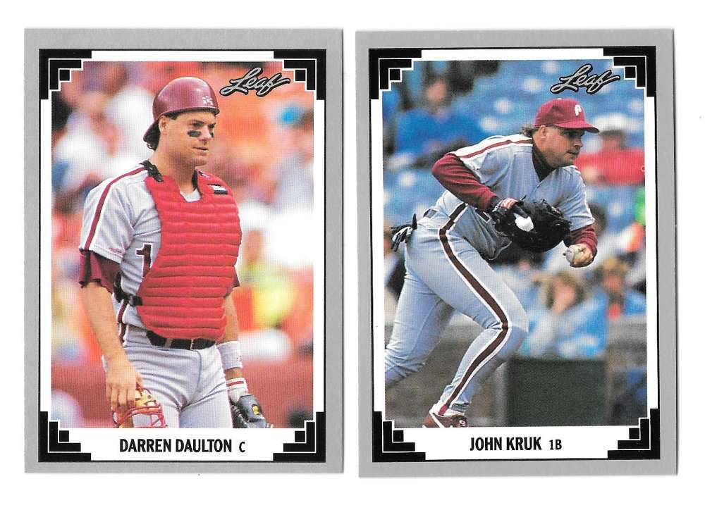1991 LEAF - PHILADELPHIA PHILLIES Team Set