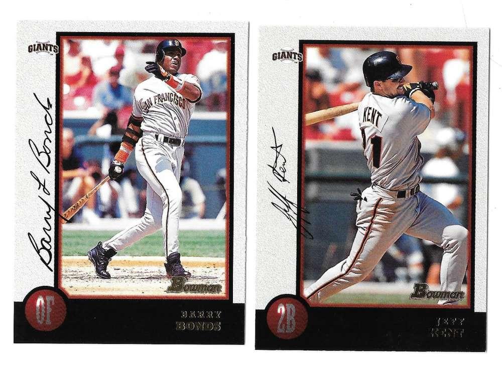 1998 Bowman - SAN FRANCISCO GIANTS Team Set