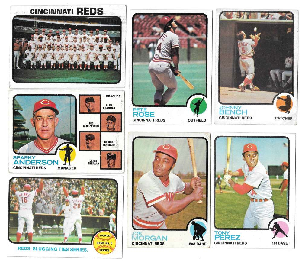 1973 Topps VG+ CINCINNATI REDS Team SetA