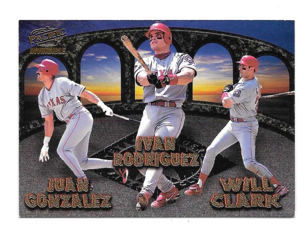 1998 Pacific Invincible Team Checklist - Texas Rangers