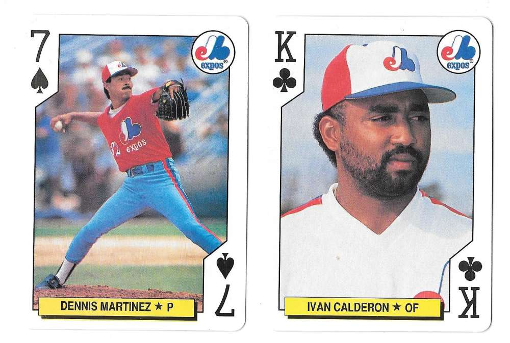 1991 Playing Card All-Stars MONTREAL EXPOS 2 Cards