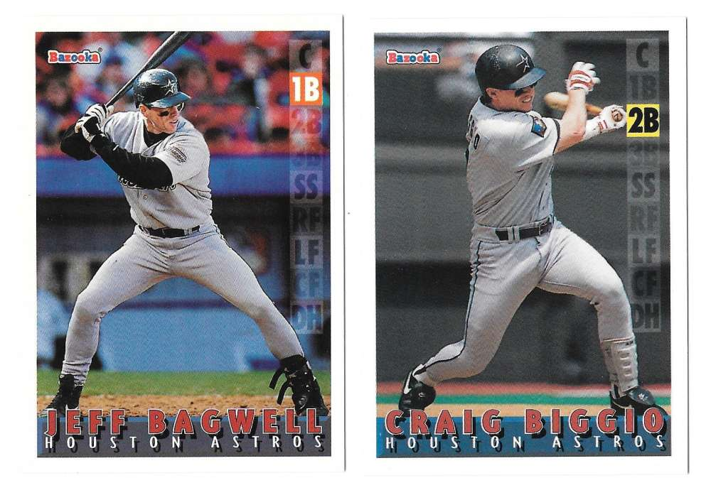 1995 Bazooka - HOUSTON ASTROS Team Set