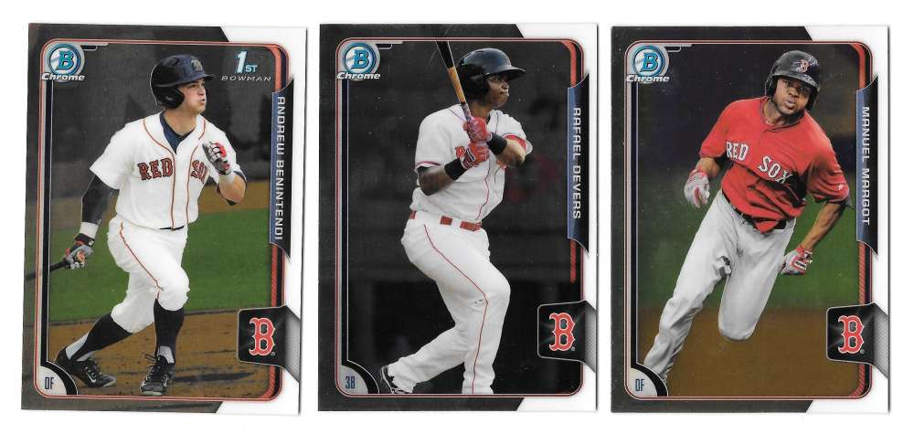 2015 Bowman Chrome Draft - BOSTON RED SOX Team Set