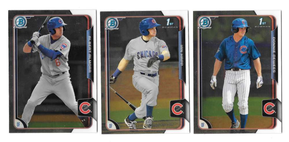 2015 Bowman Chrome Draft - CHICAGO CUBS Team Set