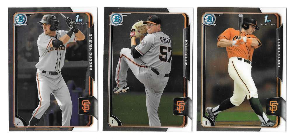 2015 Bowman Chrome Draft - SAN FRANCISCO GIANTS Team Set