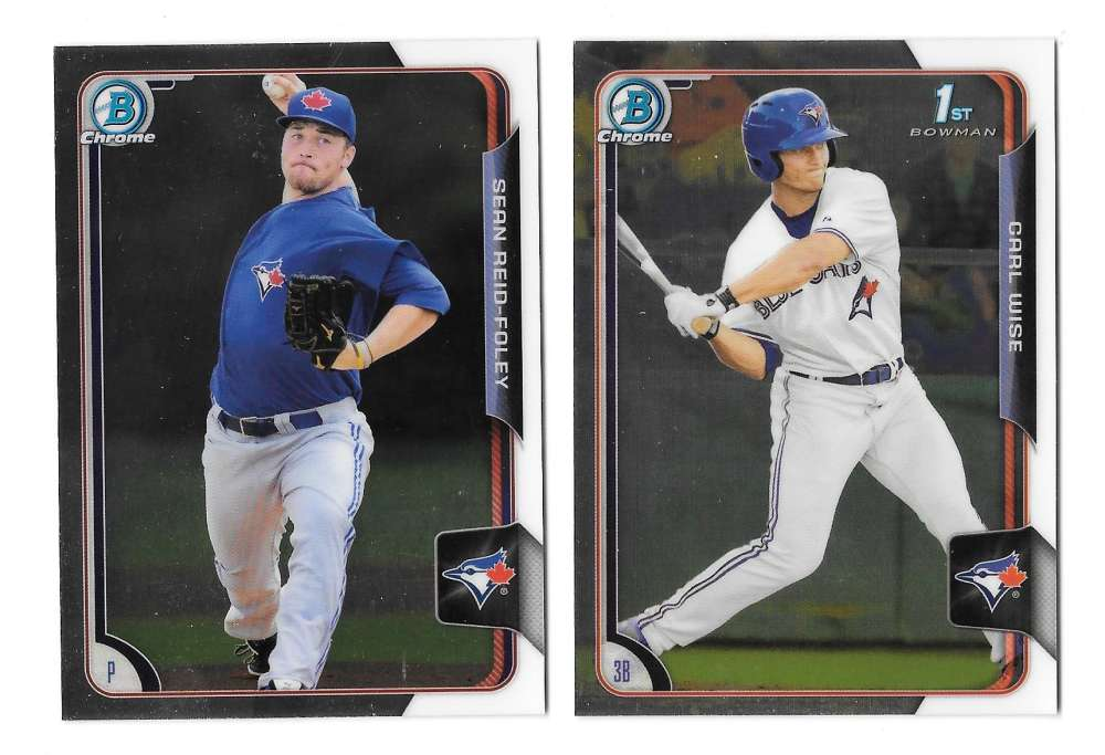 2015 Bowman Chrome Draft - TORONTO BLUE JAYS Team Set