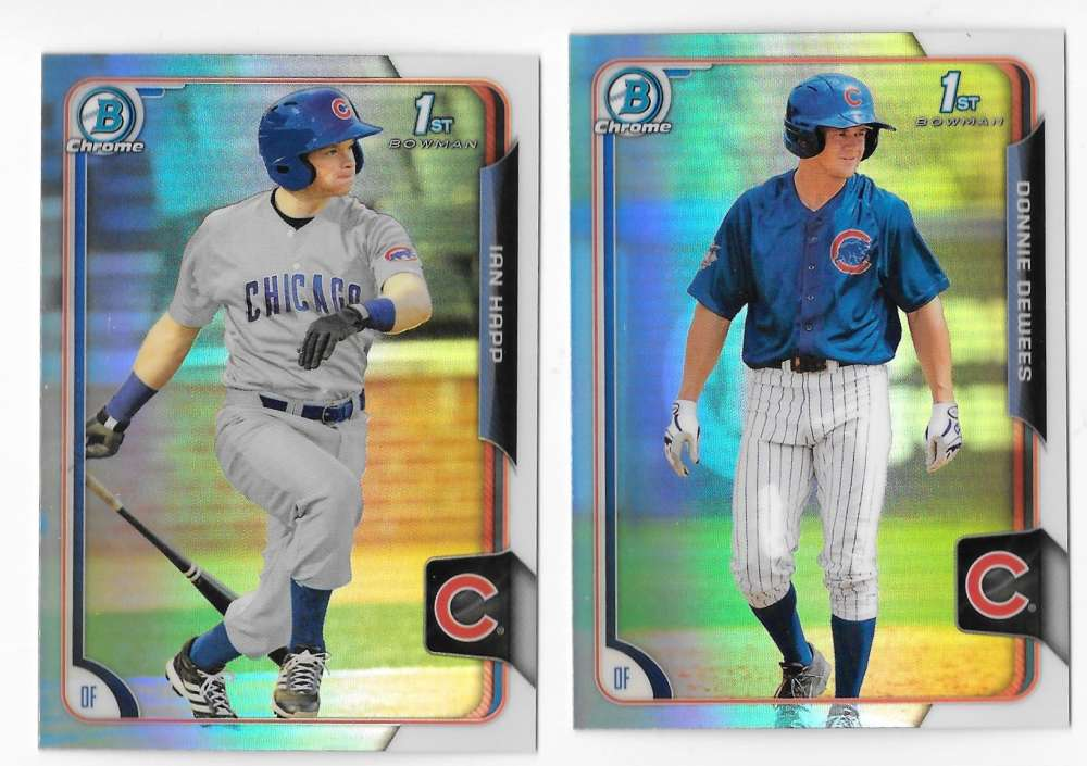 2015 Bowman Chrome Draft Refractors - CHICAGO CUBS Team Set