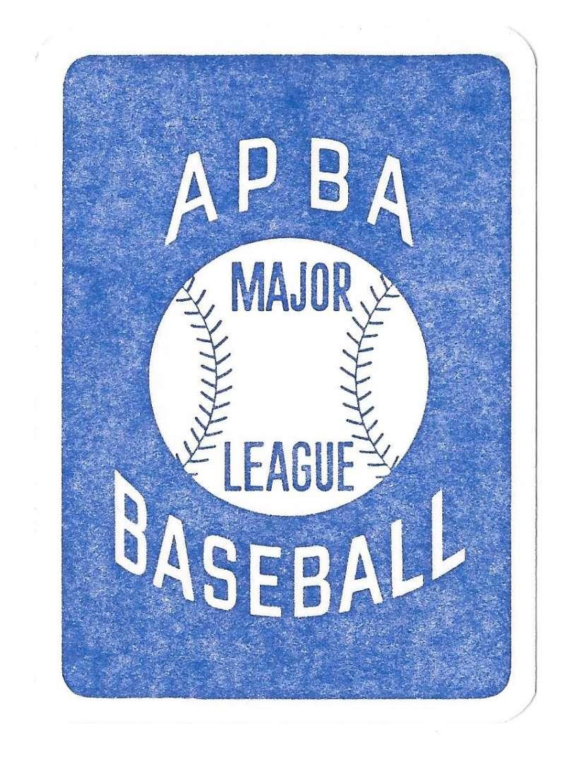 1934 APBA Season - CINCINNATI REDS Team Set