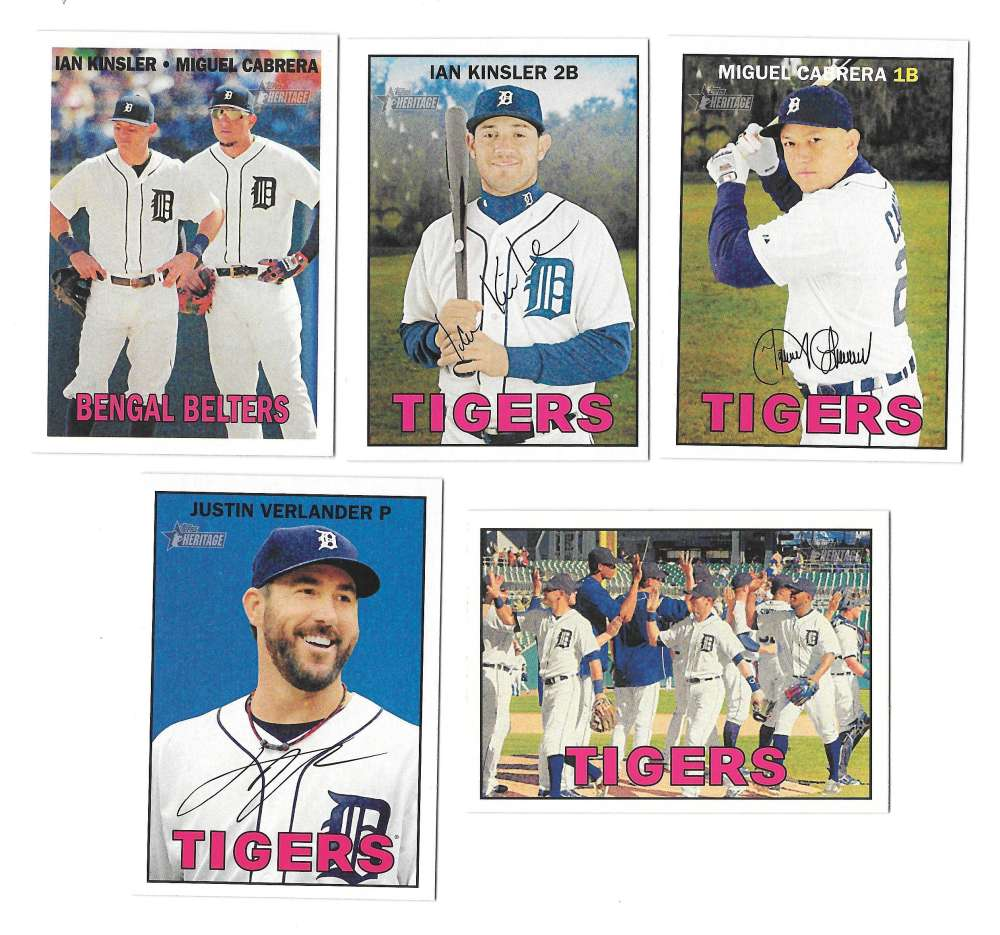 2016 Topps Heritage (1-500) - DETROIT TIGERS Team Set