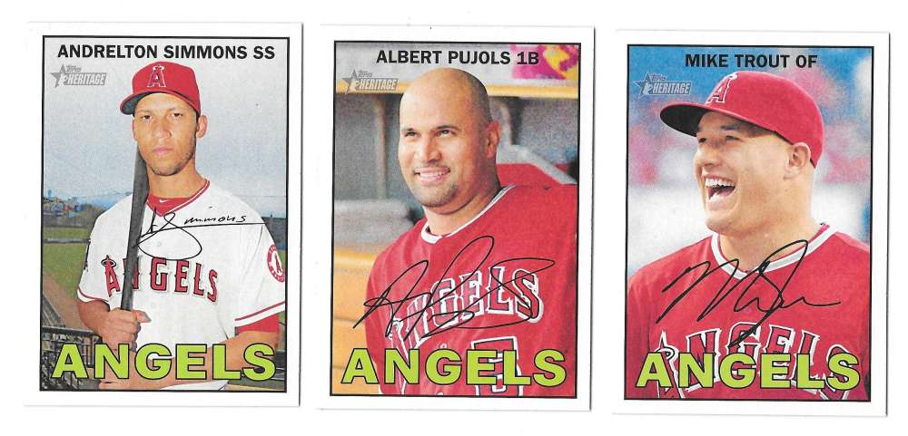 2016 Topps Heritage (1-500) - LOS ANGELES ANGELS Team set