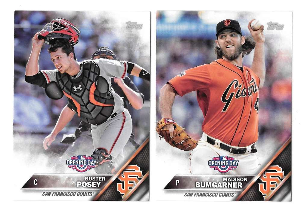 2016 Topps Opening Day - SAN FRANCISCO GIANTS Team Set