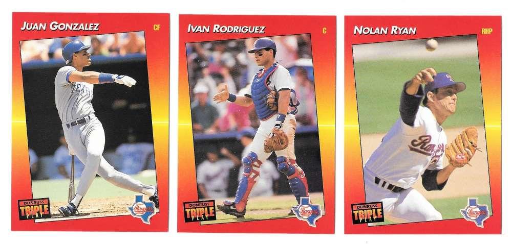 1992 Triple Play - TEXAS RANGERS Team Set