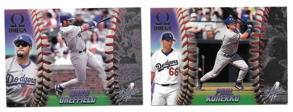 1998 Pacific Omega - LOS ANGELES DODGERS Team Set