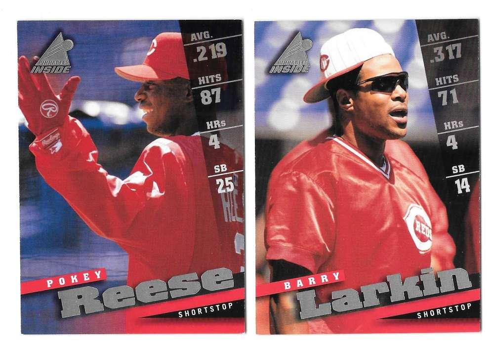 1998 Pinnacle Insiders - CINCINNATI REDS Team Set