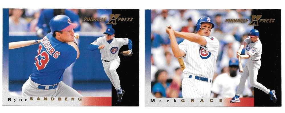 1997 Pinnacle X-PRESS - CHICAGO CUBS Team Set