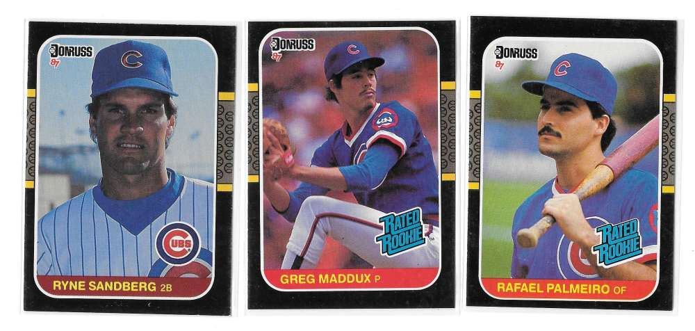 1987 DONRUSS - CHICAGO CUBS Team Set w/ GREG MADDUX RC