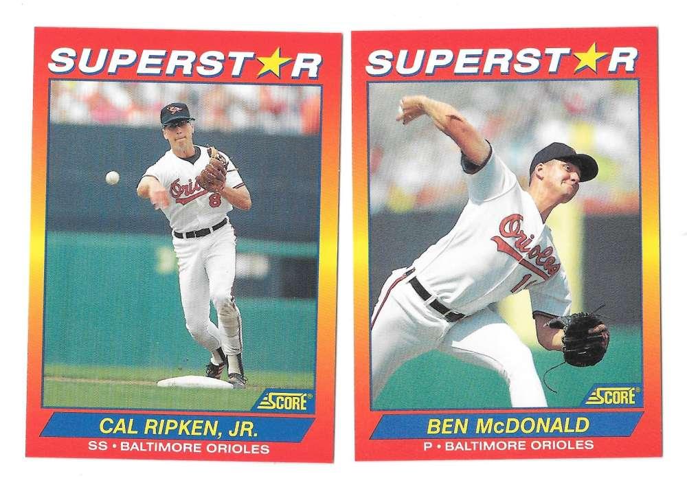 1992 Score SuperStars - BALTIMORE ORIOLES Team Set