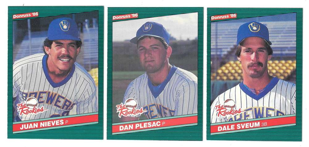 1986 Donruss Rookies - MILWAUKEE BREWERS Team Set