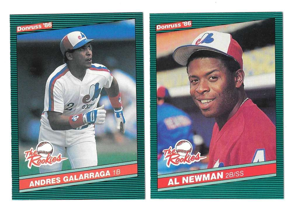 1986 Donruss Rookies - MONTREAL EXPOS Team Set