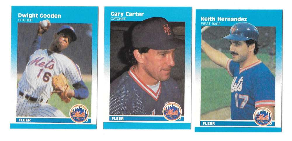 1987 Fleer Mini NEW YORK METS Team Set