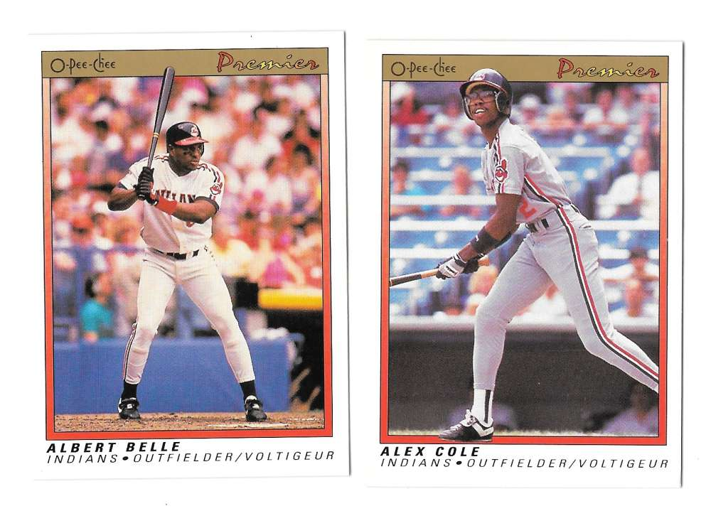 1991 O-Pee-Chee (OPC) Premier - CLEVELAND INDIANS Team Set