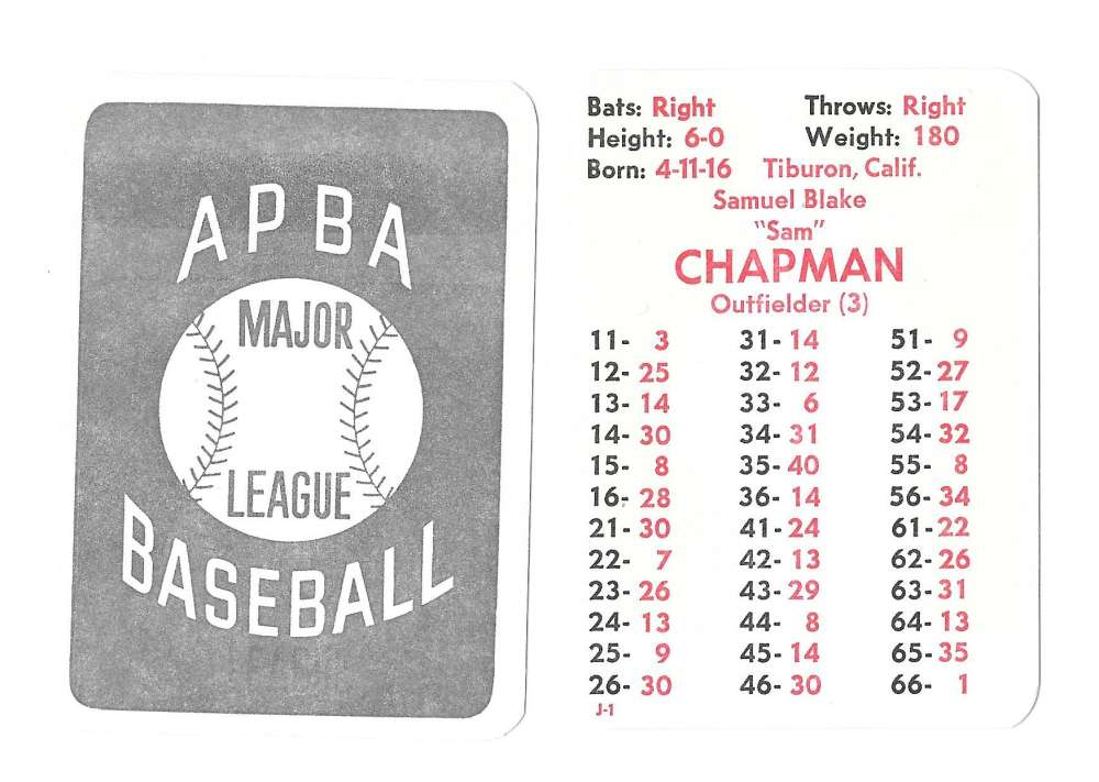 1950 APBA (Reprint) Season - PHILADELPHIA ATHLETICS / A'S Team Set