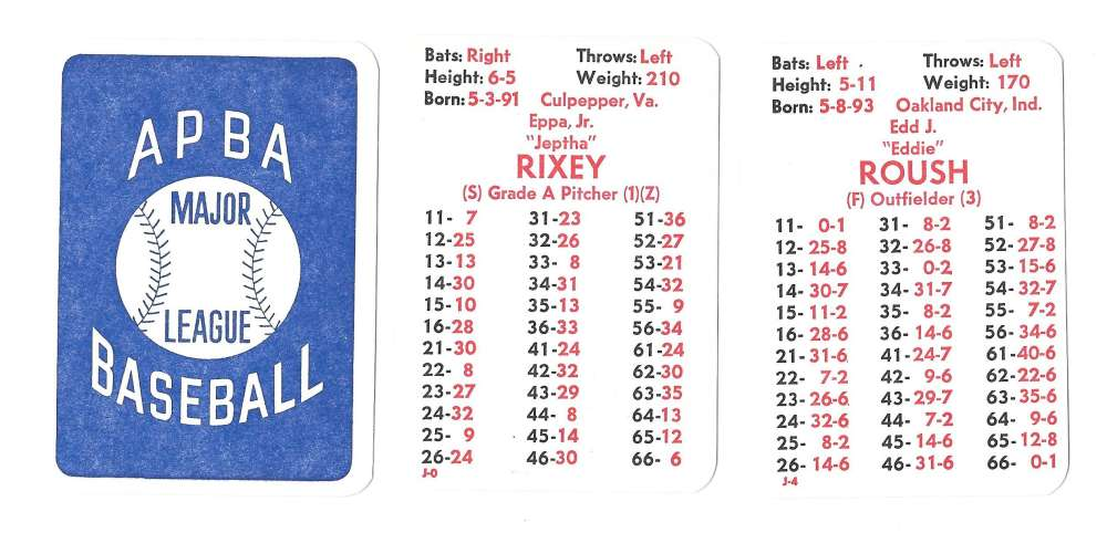 1922 APBA Season - CINCINNATI REDS Team Set