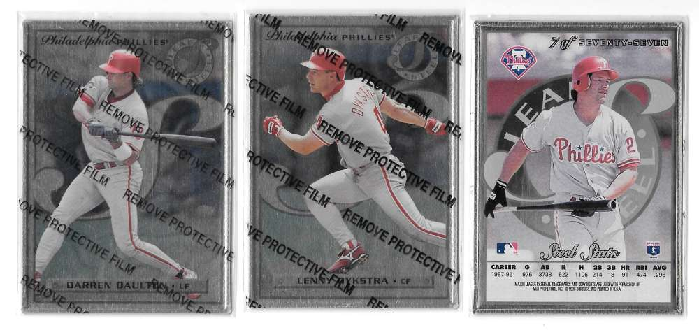 1996 Leaf Preferred STEEL - PHILADELPHIA PHILLIES Team Set