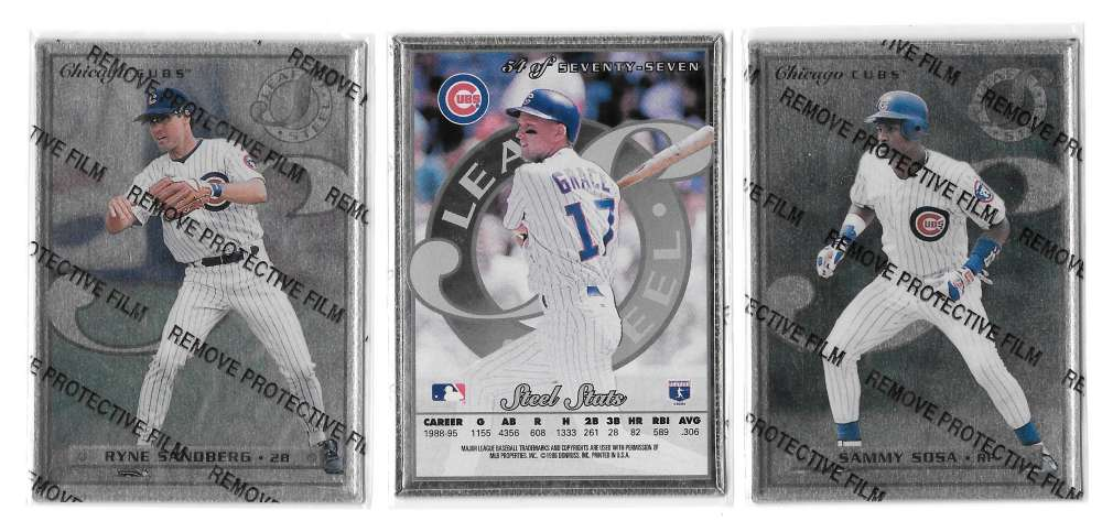 1996 Leaf Preferred STEEL - CHICAGO CUBS Team Set