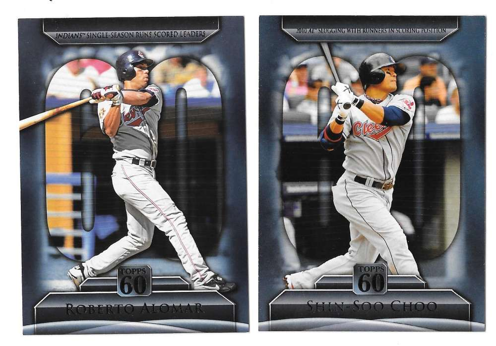 2011 Topps 60 Inserts - CLEVELAND INDIANS Team Set