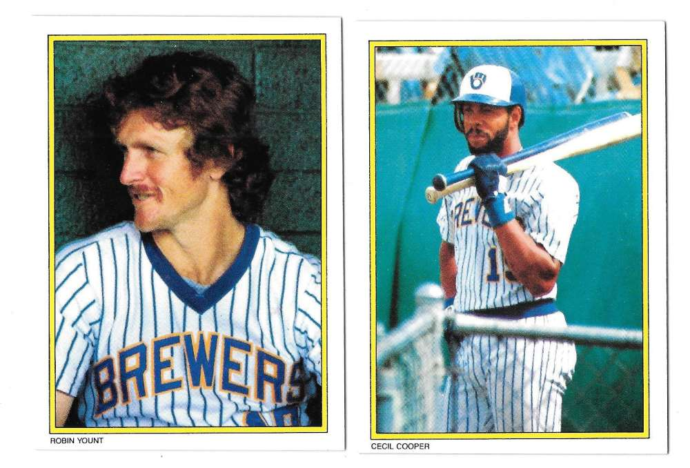 1983 Topps Glossy Send-Ins - MILWAUKEE BREWERS Team Set