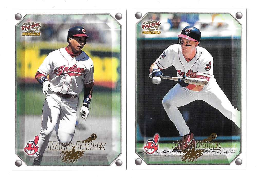 1998 Pacific Invincible Gems of the Diamond - CLEVELAND INDIANS Team