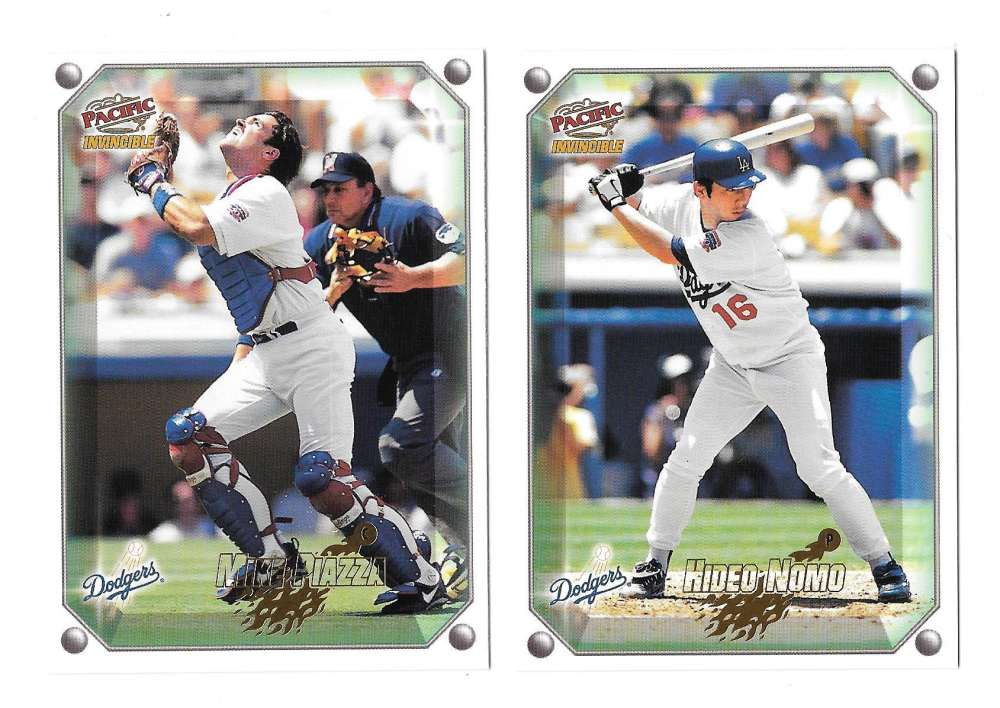 1998 Pacific Invincible Gems of the Diamond - LOS ANGELES DODGERS Team Set